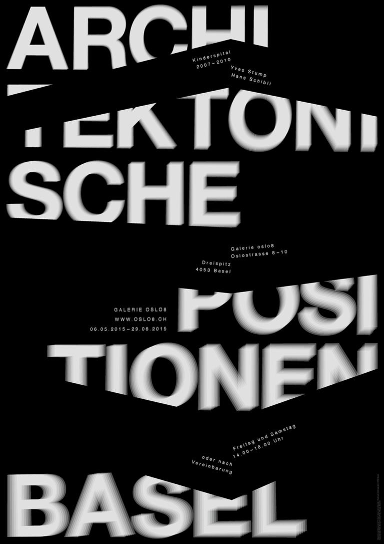 Alessandro Thüler Architektonische Positionen Basel